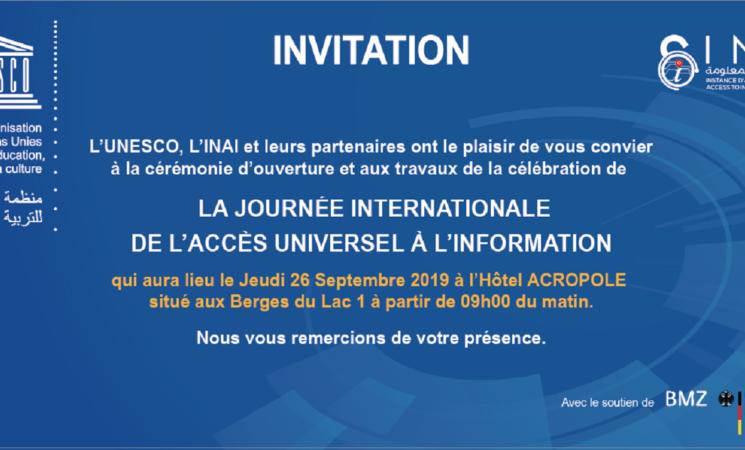 MDC participe à la célébration de la journée internationale de l'accès universel à l'information 2019